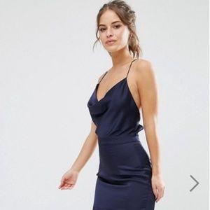Jarlo Petite Cami Strap Slinky High Low Midi Dress